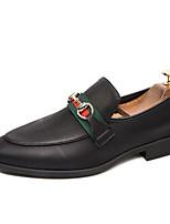 Недорогие -Муж. Комфортная обувь Полиуретан Лето На каждый день Мокасины и Свитер Нескользкий Контрастных цветов Черный
