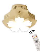 Недорогие -светодиодная люстра потолочный светильник скрытого монтажа светильники окружающий свет окрашенные поверхности металлическая затемняемая с затемнением с дистанционным управлением для туалета коридора