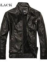 Недорогие -Hommes Moto Veste En Cuir Одежда для мотоциклов Жакет для Муж. ПУ (полиуретан) / Полиэстер Зима / Все сезоны Обогреватель / Лучшее качество