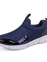 Недорогие -Муж. Комфортная обувь Эластичная ткань Весна / Осень Спортивные / На каждый день Мокасины и Свитер Беговая обувь / Для прогулок Нескользкий Контрастных цветов Черный / Темно-синий / Серый