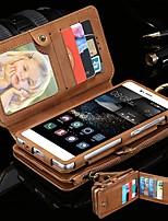 Недорогие -Кейс для Назначение Huawei P10 Plus / P10 / Mate 9 Кошелек / Бумажник для карт / Защита от удара Чехол Однотонный Твердый Кожа PU / ПК
