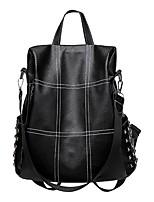 Недорогие -Большая вместимость PU Молнии рюкзак Для занятий спортом Черный / Коричневый