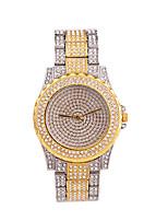 Недорогие -женская мода элегантный сплав ремешок для часов кварцевые часы мерцание горный хрусталь очаровательные наручные часы