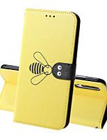 Недорогие -Кейс для Назначение SSamsung Galaxy A5(2018) / A6 (2018) / A6+ (2018) Кошелек / Бумажник для карт / Защита от удара Чехол Однотонный / Животное Твердый Кожа PU