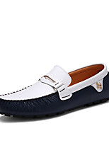 cheap -Men's Spring / Summer Business / Classic / Casual Daily Office & Career Loafers & Slip-Ons Walking Shoes Nappa Leather Breathable Non-slipping Wear Proof White / Black / Blue