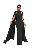 cheap -Mermaid / Trumpet Elegant Minimalist Party Wear Formal Evening Dress Jewel Neck Sleeveless Floor Length Spandex with Sleek 2020
