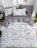 cheap -Simple Bedding Set With Pillowcase Duvet Cover Sets Bed Linen Sheet Single Double Queen King Size Quilt Covers Bedclothes