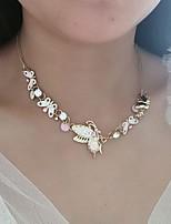 Недорогие -Жен. Цепочка Бабочка Хром Розовый 40 cm Ожерелье Бижутерия 1шт Назначение Повседневные