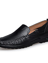 cheap -Men's Moccasin Nappa Leather Spring & Summer / Fall & Winter Casual / British Loafers & Slip-Ons Non-slipping Black / White