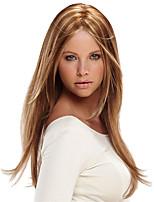 Недорогие -Парики из искусственных волос Естественный прямой Стиль Средняя часть Без шапочки-основы Парик Коричневый Клубника Blonde / светлая блондинка Искусственные волосы 16 дюймовый Жен.