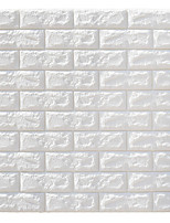 cheap -DIY PE Foam 3D Brick Self-adhesive Wallpaper Wall Art Baseboard Decor Transportation / Landscape Study Room / Office / Dining Room / Kitchen