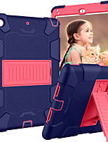 Недорогие -Кейс для Назначение Apple iPad Mini 5 / iPad Mini 4 со стендом / Детский Безопасный случай Кейс на заднюю панель броня силикагель