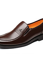 cheap -Men's Fall Casual / British Daily Party & Evening Loafers & Slip-Ons PU Breathable Non-slipping Wear Proof Black / Brown