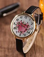 Недорогие -Жен. Спортивные часы Кварцевый Кожа Милый Аналоговый На каждый день - Черный Светло-синий Белый