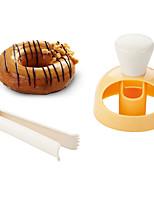 Недорогие -2pcs пластик Новое поступление Креатив Хлеб Печенье Круглый Формы для пирожных Пивные инструменты Инструменты для выпечки