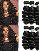 Недорогие -6 Связок Индийские волосы Свободные волны Необработанные натуральные волосы 100% Remy Hair Weave Bundles Головные уборы Человека ткет Волосы Пучок волос 8-28 дюймовый Естественный цвет