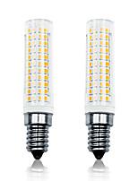 Недорогие -LOENDE 2pcs 11 W LED лампы типа Корн 750 lm E14 T 136 Светодиодные бусины SMD 2835 Тёплый белый Белый 110-130 V 200-240 V