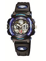 Недорогие -Нарядные часы силиконовый Цифровой Синий с черным