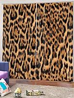 Недорогие -леопардовым принтом бытовые украшения затемнения 100% полиэстер многоцелевой занавес звукоизоляционные теплоизоляционные ткани занавес для спальни гостиной