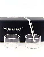Недорогие -Замена стеклянной трубки yuhetec для кармана Aspire Pockex AIO 2 мл 2шт