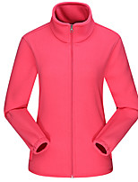 cheap -Women's Hiking Fleece Jacket Winter Outdoor Fleece Lining Warm Comfortable Winter Fleece Jacket Single Slider Climbing Camping / Hiking / Caving Winter Sports Black / Purple / Fuchsia / Pink