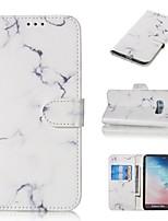 Недорогие -Кейс для Назначение SSamsung Galaxy S9 / S9 Plus / S8 Plus Кошелек / Бумажник для карт / со стендом Чехол Мрамор Твердый Кожа PU