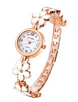 Недорогие -Часы-браслет Нержавеющая сталь Аналоговый Розовый Белый