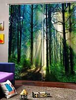 Недорогие -Горячая внешняя торговля 3d печать ткани шторы теплоизоляция солнцезащитный крем утолщенные полные шторы для гостиной водонепроницаемый влагостойкие занавески для душа
