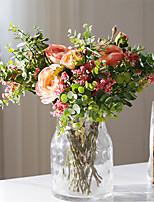 Недорогие -Искусственные Цветы 7 Филиал Классический европейский Свадебные цветы Розы Pастений Букеты на стол