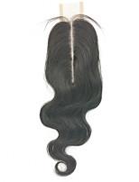 Недорогие -Clytie Бразильские волосы Полностью ленточные Волнистый Средняя часть Средняя часть Швейцарское кружево Натуральные волосы Жен. Удлинитель / Молодежный Школа / Свидание / Черный