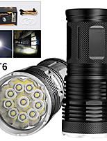 Недорогие -EX10 Светодиодные фонари 8000 lm Светодиодная лампа LED 10 излучатели Руководство 3 Режим освещения Водонепроницаемый Для профессионалов Анти-шоковая защита