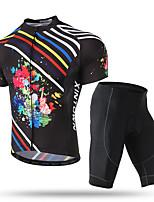 Недорогие -XINTOWN Муж. С короткими рукавами Велокофты и велошорты Черный / красный Велоспорт Дышащий Виды спорта Эластан Однотонный Горные велосипеды Шоссейные велосипеды Одежда / Эластичная