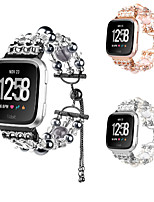 cheap -Watch Band for Fitbit Versa Fitbit Jewelry Design Elastic Beaded Wrist Strap