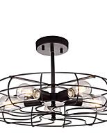 Недорогие -полупрозрачный потолочный светильник круглые антикварные металлические потолочные люстры клетки тень для прихожей скрытого монтажа подвесной светильник 5 ламп