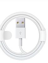 Недорогие -Подсветка Кабель 2.0m (6.5Ft) Нормальная TPE Адаптер USB-кабеля Назначение iPhone