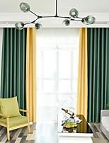 Недорогие -Modern Солнцезащитные 2 шторы Занавес Спальня   Curtains