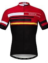 Недорогие -WEIMOSTAR Муж. С короткими рукавами Велокофты Красный Велоспорт Спортивный костюм Джерси Верхняя часть Дышащий Виды спорта Полиэстер Эластан Терилен Горные велосипеды Шоссейные велосипеды Одежда