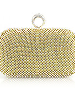 cheap -Women's / Girls' Bags Alloy Evening Bag Crystals for Event / Party Black / Gold / Silver / Wedding Bags