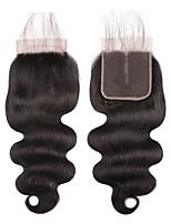Недорогие -Laflare Бразильские волосы 4x4 Закрытие Волнистый Бесплатный Часть / Средняя часть / 3 Часть Швейцарское кружево Натуральные волосы Жен. Женский / Удлинитель / Лучшее качество Рождество / Halloween