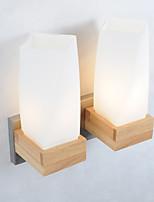 Недорогие -стеклянный настенный светильник милый современный современный / нордический стиль настенный светильник / настенные светильники&усилитель; бра внутреннее / спальня деревянные настенные светильники