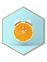 Недорогие -Отпечаток в раме Холст в раме С принтом - Продукты питания Полистирен Иллюстрации Предметы искусства