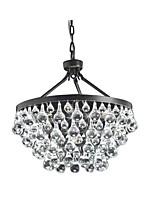 Недорогие -хрустальные люстры круглые современные капли дождя подвесной светильник цепи регулируемая прихожая гостиная подвесные светильники хрустальные люстры окружающего света подвесные светильники