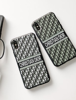 Недорогие -Кейс для Назначение Apple iPhone XS / iPhone XR / iPhone XS Max Защита от пыли / Рельефный Чехол Слова / выражения Мягкий ТПУ