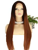 Недорогие -Парики из искусственных волос Естественный прямой Стиль Стрижка каскад Без шапочки-основы Парик Коричневый Черный / коричневый Искусственные волосы 68~72 дюймовый Жен. Новое поступление Коричневый