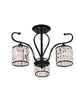 Недорогие -Американские хрустальные люстры в помещении деко свет подвесной светильник 3 лампы спальня прихожая потолочный светильник полу флеш черный