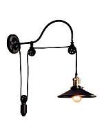 Недорогие -железный настенный светильник регулируемый шкив бра черный промышленный декор свет настенное крепление для бара коридора металла