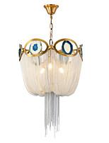 Недорогие -3-х ламповая алюминиевая ручная люстра / роскошный подвесной светильник с кисточкой для гостиной, столовой, кафе, кафе-бара / лампа e14 не входит в комплект