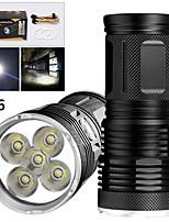 Недорогие -EX5 Светодиодные фонари Светодиодная лампа LED 5 излучатели 4000 lm Руководство 3 Режим освещения Водонепроницаемый Для профессионалов Анти-шоковая защита