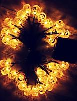 Недорогие -3M Гирлянды 20 светодиоды Тёплый белый Декоративная Солнечная энергия 1 комплект
