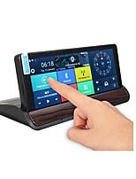 Недорогие -Поделиться to7 дюймов HD Автомобильный видеорегистратор GPS с двумя объективами навигации камера заднего вида рекордер тире 3g Wi-Fi